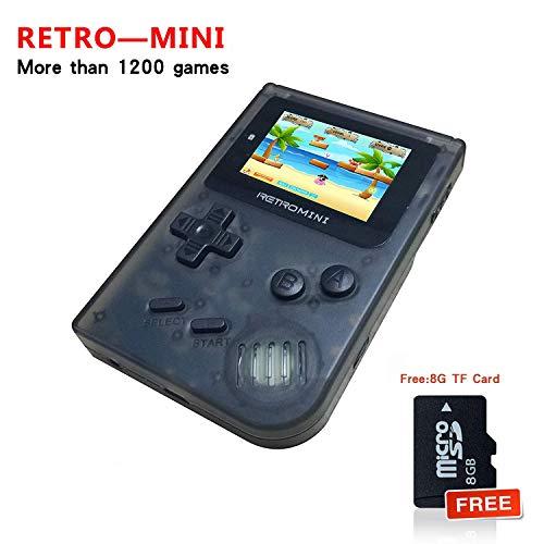 Workingda Retro Minihandspielkonsole, 2 Zoll HD Bildschirm mit 1219 klassischen Spielen, Bestes Kindergeschenk (Nintendo Watch Game And)
