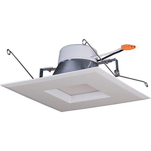15 W 12,7-15,2 cm. LED-Einbauleuchte, quadratisch, 120 V, 2700 K, Warmweiß -