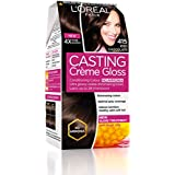 L'Oreal Paris Casting Creme Gloss Hair Color, Iced Chocolate 415, 87.5g+72ml
