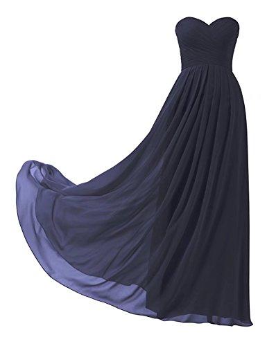 Lange Abendkleider Elegant Chiffon Brautjungfernkleider Ball Abiball Abschlusskleid 139