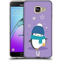 Head Case Designs Violet Kawaii Manchot De Noël Étui Coque en Gel molle pour Samsung Galaxy A3 (2016)