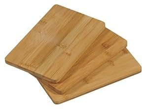 Kesper lot de 2 planches à découper, planche à petit-déjeuner en bois certifié fSC, brotzzeitbrett ® -bambus, dimensions :  env. 220 x 140 x 10 mm