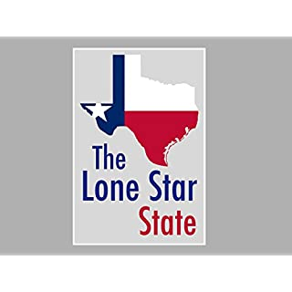 ArtsyCanvas Texas-the Lone Star State Map Flag (Poster), 24 x 16