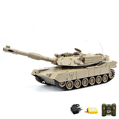 M1A2 Abrams US.Army 2.4GHz RC ferngesteuerter Panzer Tank, Kettenfahrzeug mit viele Funktionen, Schusssimulation, Sound- und Lichteffekte, Komplett-Set