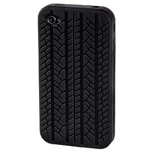 Hama Coque en silicone pour iPhone 4 design pneu Noir