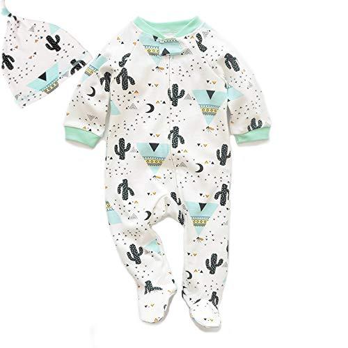 Bebé Mameluco Algodón Onesies Pijamas Traje Sombrero