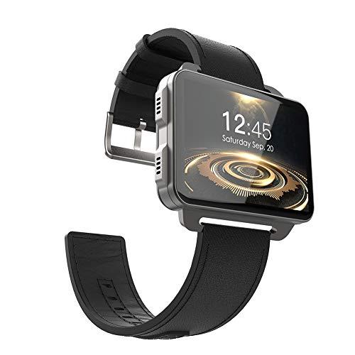 """good01 Montre connectée LEM4 Pro Écran 2,2"""" Bluetooth SIM Slot Camera Smart Watch pour Android iOS, Noir"""