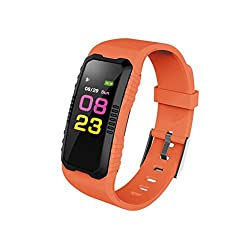 Sunnymi@smart Watch Strap Multifunctional Adult Boys & Girls Student Children's Electronic Watches, Outdoor Watches, Cycling Watches Sport Gps Heart Rate Blood Pressure Bluetooth (Orange)