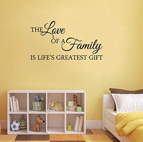 Adesivo da parete l'amore di una famiglia è lifes il più grande regalo adesivo da parete in pvc 80x43.1cm