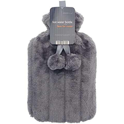 Se puede calentar en el de imitación de diseño de piel de verde y gris verde y gris 2L como en calientes de la botella de