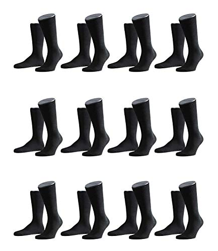 FALKE Herren Family Socken Strümpfe 14645 12er Pack, Sockengröße:39-42;Artikel:14645-3000 black