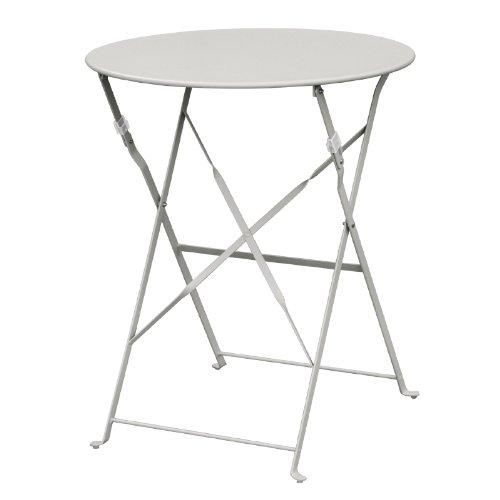 Bolero Table en acier gh556 Trottoir, Style, gris