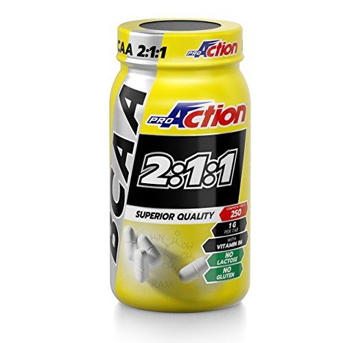 Proaction integratore di aminoacidi bcaa 2:1:1 - barattolo da 250 compresse
