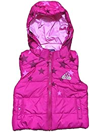 Adidas Infant Girls Kids Jacket Vest Baby Children Body Warmer Gilet - Pink