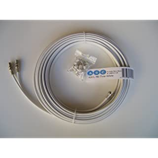 ASCL 15m of Freesat HD Shotgun Twin Cable Extension Lead in White