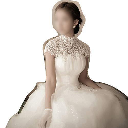 Frauenkleid Weißer Sommer Retro Kragen Kleid Brautkleid (Size : XL)