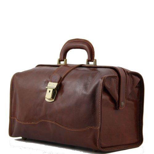 8100774 - TUSCANY LEATHER: CANOVA -Sac médicine en cuir, noble marron