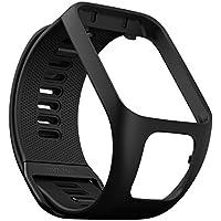 TomTom - Bracelet pour Montre TomTom RUNNER 3, SPARK 3, RUNNER 2 & SPARK - Taille Large - Noir