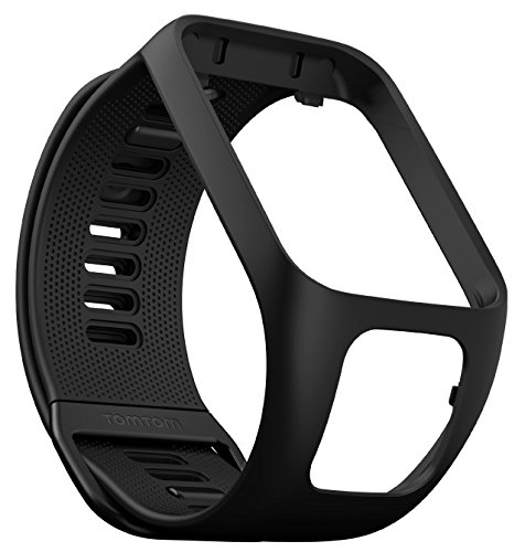 TomTom watch strap for Runner 3, Spark 3, Runner 2, Spark, Golfer 2 – Black, Large