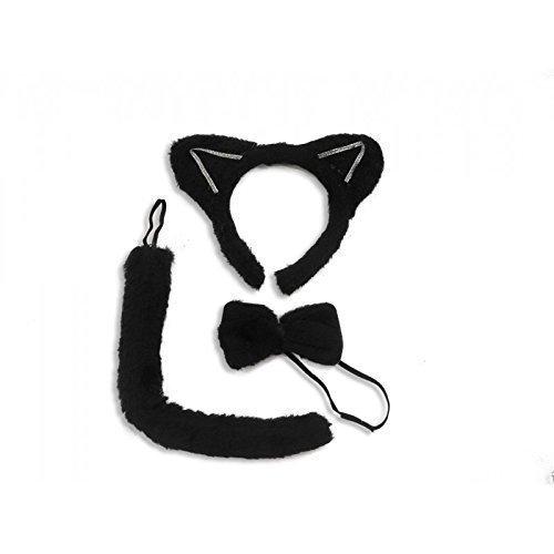 Kostüm Kopfbedeckung Katze (Set Katze / Katzenset für Kinder und Erwachsene in)