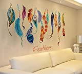 Beautyjourney Classic Creative Dream Catcher Plume Wall Sticker Art DéCalque Mural Stickers Muraux...