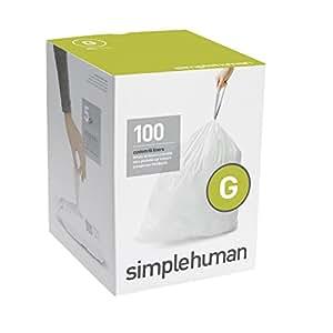 simplehuman sac poubelle type g 30 l lot de 100 cuisine maison. Black Bedroom Furniture Sets. Home Design Ideas