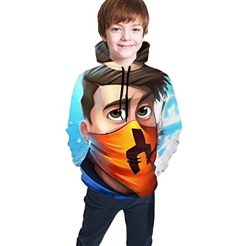 Rogerds Preston Playz Youth Hoodies, Teen Pullover Hooded with Pocket Sweatshirt for Boys Girls