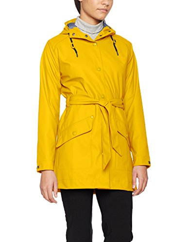 Chubasquero amarillo para mujer