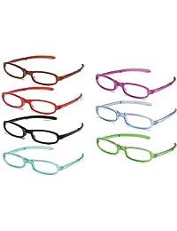 7 Packs pieghevole occhiali da lettura pieghevole anziani occhiali piegare presbiopia occhiali da vista compatto + 1,0 a + 4.0 grado optometrista consiglia di ridurre l'acuità visiva declino,+1.00D
