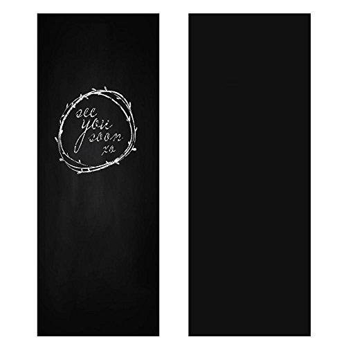 Yaheetech Wandaufkleber Tafelfolie Kreidefolie Selbstklebend 60 x 200 cm Schwarz