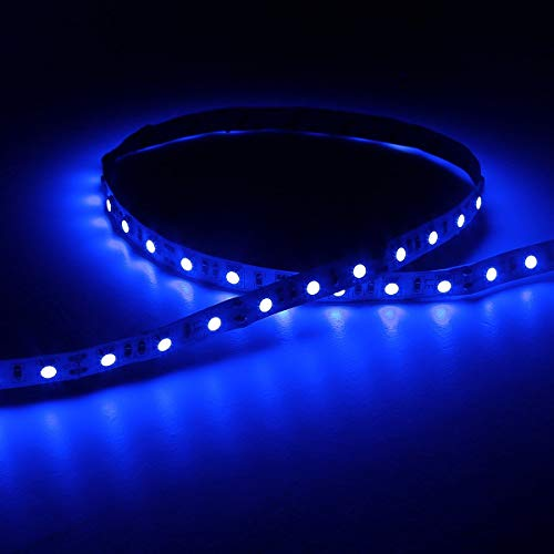 LE flexibel LED Streifen 12V Blau, 300lm / 4,8W pro Meter, 300 Stück 3528 LEDs, 5M in jeder Packung, LED Lichtband, LED Lichtleiste, LED Band - 2