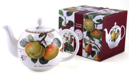 Théière De Porcelaine Fine U0027Les Fruits Du Jardinu0027 Avec Boîte à Cadeau