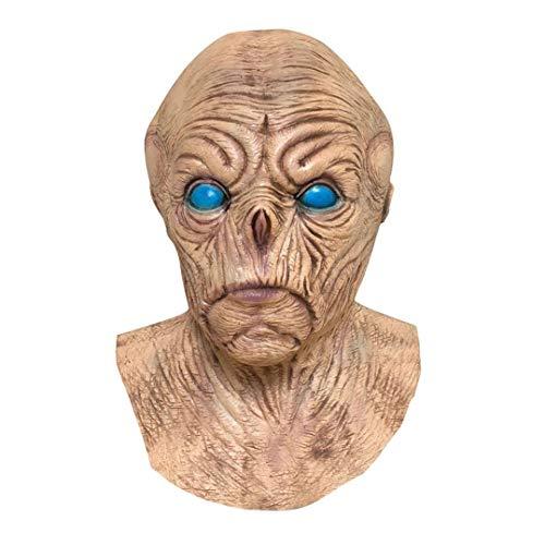 Prevently CS Schutzmaske Halloween Masken Alien-Maske Latex Maske Zombie Cosplay Maske Kostüm Requisiten Vampire Alien Halloween Maske