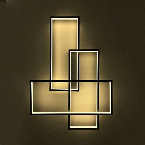 GBLY LED Deckenleuchte Geometrisch Wandlampe Warmweiß Deckenlampe Modern Schwarz Multifunktional Nacht Lampe für Wohnzimmer, Schlafzimmer, Flur -
