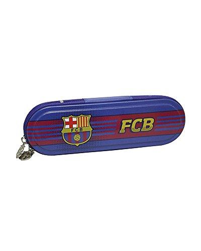 Plumier metalico con cremallera FC Barcelona