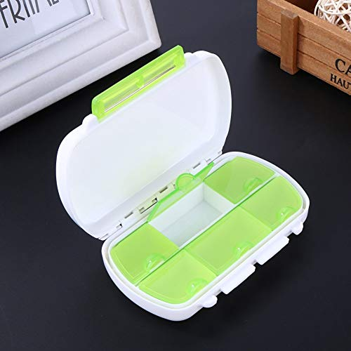 Coogel Portable Pill Box - 1 Piece 6 Compartments Portable Travel Pill Box Plastic Medicine Drugs Pills Storage Holder Container Organizer Case Box