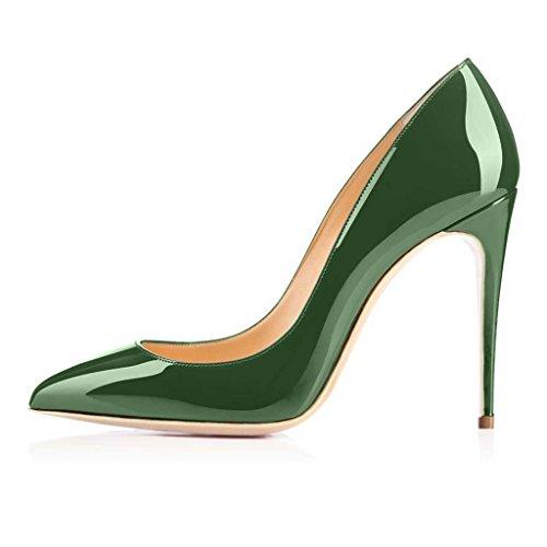 SHOFOO - Femmes - Escarpins - Cuir synthétique - Plusieurs coloris - Talon aiguille - Bout pointu fermé Vert