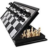 TanMan Black And White Chess Set With Magnetic Black And White Color Chess Men Great Quality
