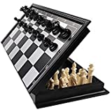 Happy GiftMart Folding Smooth Surface Magnetic Chess Board (Black and White, 9.5-inch)