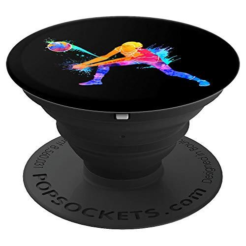 Geschenk für Volleyballspieler beim Volleyball - PopSockets Ausziehbarer Sockel und Griff für Smartphones und Tablets