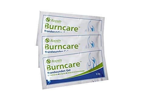 HM Arbeitsmedizin 3er Pack BRANDWUNDENGEL/HYDROGEL - Steril - bei Verbrennungen - Sonnenbrand - Verbrühungen - Schürfwunden - Kühlendes Gel für Brandverletzungen