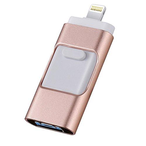 128 GB Flash Drive Speicherstick, Thumb Drive USB Externer Speicher Erweiterung kompatibel mit iPod/iPhone/iPad/Android und Computer (Externen Speicher-laufwerk Für Ipad)