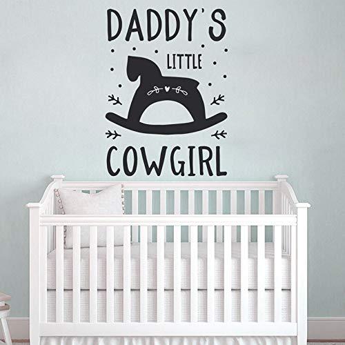 Daddy's Little Cowgirl Kinderzimmer Decorcute Wandkunst Vinyl Aufkleber Für Baby Mädchen Baby Shower Giftbedroom Dekoration DIY 42X57CM