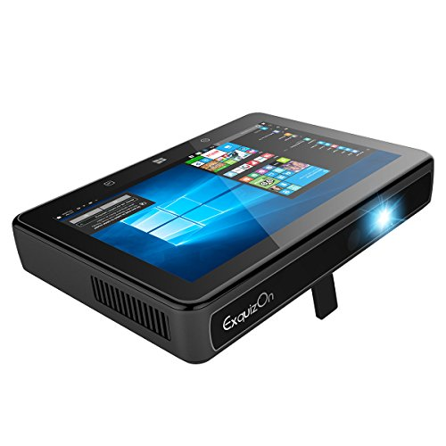 ExquizOn-Smart-3-Windows-10-DLP-Smart-Mini-Projector-with-7-Touch-Screen-Full-HD-2G32G-Memory-Tablet-Supports-Wifi-Bluetooth-300-ANSI-Lumens-Bright-as-Normal-Projector-for-Home-Entertainment