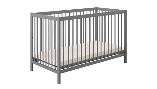 Polini Kids Babybett Gitterbett Kinderbett Simple 101 aus Naturholz lackiert in ve...