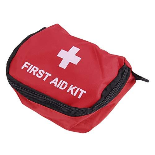 Trousse de Premiers Soins 0.7L PVC Rouge Extérieur Camping Survie d'urgence Sac Vide Bandage Drogue Sac de Rangement imperméable à l'eau (Rouge)