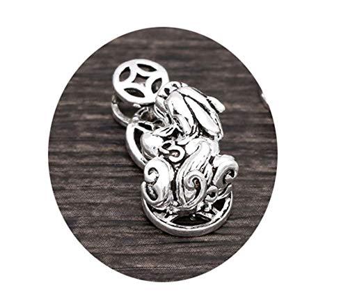 Abellale 925 Silber Anhänger Herren Tier Geld Anhänger Buddhismus Herrenkette Silber Thai Halskette Gothic Herren