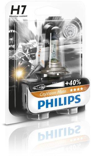 Philips 12972CTVBW City Vision Moto H7 Motorrad-Scheinwerferlampe, 1er Blister