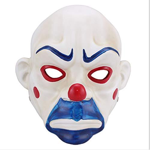 Räuber Kostüm Weibliche - ZHANGWENXIN Erwachsene Hohe-Grade Harz Joker Bank Räuber Maske Clown Batman Dark Knight Halloween Prop Maskerade Partei Kostüm Phantasie Kleid