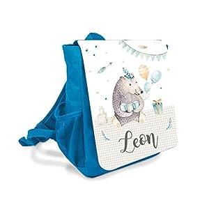 Kinder-rucksack für Jungen mit Namen u. Bär
